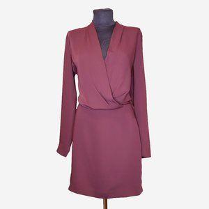 Aritzia Babaton Burgundy Dress Sz 6
